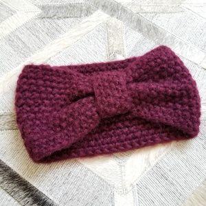 Maroon Crochet Bow Headband